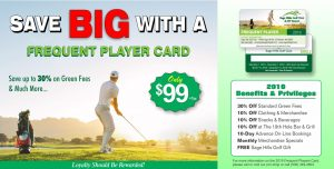 Frequent Player Golf Card